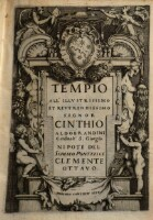 Tempio All' ... Signor Cinthio Aldobrandini Cardinale S. Giorgio