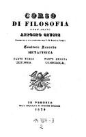 Metafisica : Teologia et Cosmologia (2=Bd.2,T.3-4)