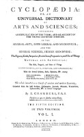 Cyclopaedia: or an universal dictionary of arts and sciences (etc.) 5. ed. (Vol.1)
