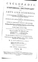 Cyclopaedia: or an universal dictionary of arts and sciences (etc.) 5. ed. (Vol.2)