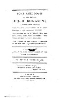 Some anecdotes of the life of Julio Bonasoni, a Bolognese artist etc. Accompanied by a catalogue of the engravings with their measures of the works of that tasteful composer (etc.)