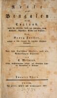 Reise aus Bengalen nach England (etc.) Aus dem Englischen übers. und mit Anm. begl. von C. Meiners. (Vol.2)