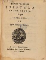 Epistola valedictoria in qua inter alia de stylo historiae Timuri.