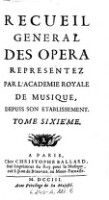Venus Et Adonis, Tragedie. Representée ... 1697. (Tom.6)