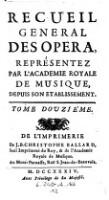 Les Festes De L'Été, Ballet Représenté ... 1716. (Tom.12)