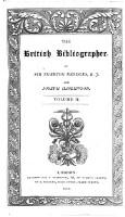 The British Bibliographer (Vol.2)