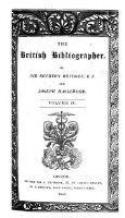 The British Bibliographer (Vol.4)