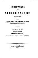 Scriptores de sudore anglico superstites. Post mortem auctoris adornavit et ed. Henricus Maeser