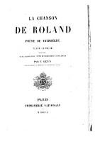 La Chanson De Roland Poeme De Theroulde Texte Critique