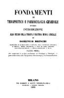 Fondamenti di terapeutica e farmacologia generale (etc.)