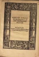 Osci et Volsci dialogus, ludis Romanis actus.