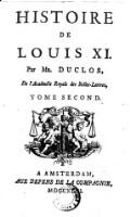 Histoire de Louis XI. (Tome Second)