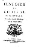 Histoire de Louis XI. (Tome Troisieme)
