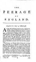 The peerage of England; containing a genealogical and historical account of all the Peers of that Kingdom etc. fourth edition, carefully corrected, and continued to the present time (Vol.4)