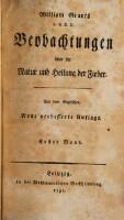 Beobachtungen über die Natur und Heilung der Fieber. Neue und verb. Aufl. (Erster Band)