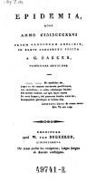 Epidemia, quae anno 1826 urbem Groningam adflixit (etc.)