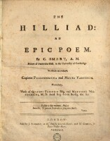 The Hilliad, an epic poem; to which are prefixed copious prolegomena and notes Variorum particularly those of Quiebus Flestrin and Martinus Macularius.