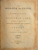The Hedaya, Or Guide; A Commentary On The Mussulman Laws: Translated By Order Of The Governor-General And Council Of Bengal, By Charles Hamilton (Vol. II.)