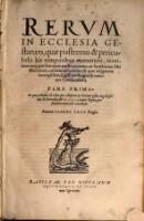 Rerum in culesia gestarum, quae postremis his temporibus evenerunt ... commentarii