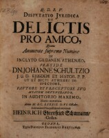 Dispvtatio Jvridica De Delictis Pro Amico