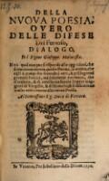 Della nuova poesia, overo delle difese del Furioso, dialogo del ... Gioseppe Malatesta (etc.)