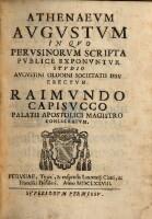 Athenaevm Avgvstvm In Qvo Pervsinorvm Scripta Pvblice Exponvntvr