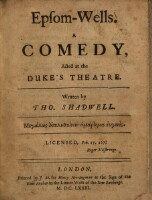 Epsom-Wells, a comedy, Acted at the Duke's theatre