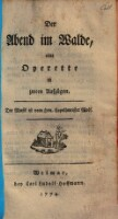 Der Abend im Walde, eine Operette in 2 Aufz. von G. E. Heermann, Musik von ---. (Deutsche Schaubühne)