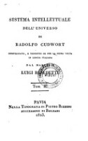 Sistema intellettuale dell'universo compendiato e tradotto in lingua italiana dal marchese Luigi Benedetti (Tom. 2)