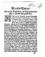Accords-Puncta. So wegen Einhändig- vnd Vbergebung der Statt Donkirchen geschlossen. : Accords-Puncte. So wegen Einhändig- vnnd Vbergebung der Statt Donkirchen geschlossen (ddo. 7. Oktob. 1646) o.O. o.J.