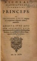 Enth. außerdem: Dio Cassius: Agrippae ... oratio contra monarchiam (etc.) - Mornay, Philippe de: Vindiciae contra tyrannos(etc.) - Mornay, Phlippe de: De iure magistratuum (etc.)