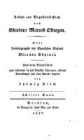 Leben und Begebenheiten des Escudero Marcos Obregon; aus dem Spanischen ... in das Deutsche übertragen, und mit Anm. und einer Vorrede begleitet von Ludwig Tieck (Zweiter Band)