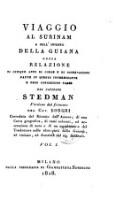 Viaggio Al Surinam E Nell'Interno Della Guiana ... Versione dal francese Del Cav. Borghi (Vol. I.)