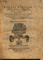 Dialogi Di Messer Alessandro Lionardi, Della Inventione Poetica (etc.)