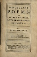 Miscellany Poems, as Satyrs, Epistles, Love-Verses, Songs, Sonnets [et]c.