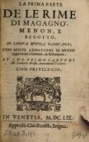 Rime in lingua rustica Padovana con molte additioni di nuovo aggiontovi ... Nuovamente trad