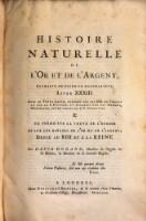 Histoire Naturelle De Lor Et De Largent Extraite De Pline