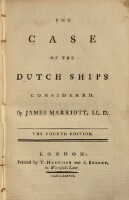 The case of the Dutch ships. 4. ed.