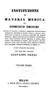 Institutioni di materia medica, con note di Giovanni Pozzi (Volume Primo)