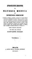 Institutioni di materia medica, con note di Giovanni Pozzi (Volume 2)