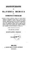 Institutioni di materia medica, con note di Giovanni Pozzi (Volume 3)