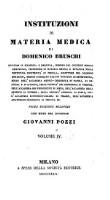 Institutioni di materia medica, con note di Giovanni Pozzi (Volume 4)