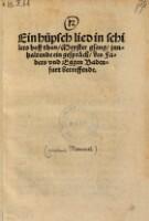 Ein hüpsch lied in schilers hoff thon, Meyster gsang, jnnhaltende ein gespräch, des Fabers vnd Eggen Badenfart betreffende.