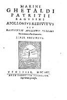 Sev Restitvtae Apollonii Pergaei De Inclinationibus Geometriae