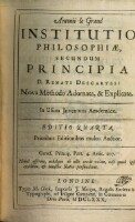 Institutio Philosophiæ, Secundum Principia D. Renati Descartes: Nova Methodo Adornata, & Explicata