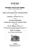 Poeme De François Guillaume Sieber Sur Les Antiquités