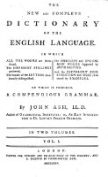 The new and complete dictionary of the english language (Vol. I)