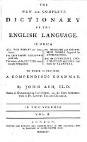 The new and complete dictionary of the english language (Vol. II)