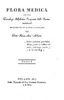 Flora medica, ossia catalogo alfabetico ragionato delle piante medicinali (Vol. 1)