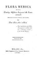 Flora medica, ossia catalogo alfabetico ragionato delle piante medicinali (Vol. 6)